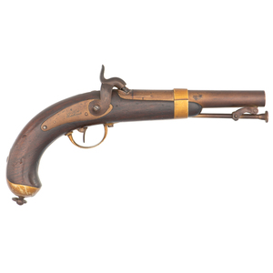 French Model 1837 Percussion Naval Pistol