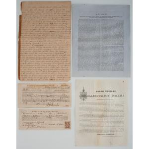 Miscellaneous Civil War-Era Documents and Manuscripts, Lot of Five