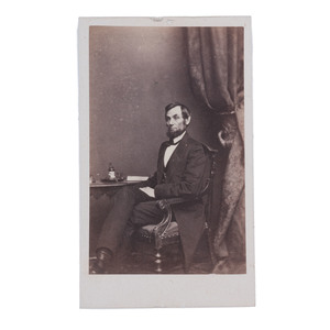 Abraham Lincoln CDV by Brady, Ca 1862