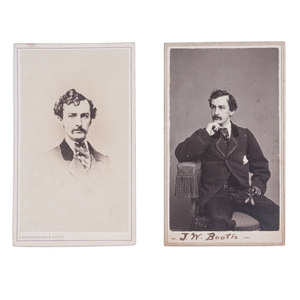 John Wilkes Booth, Pair of CDVs by C.D. Fredericks & Co.