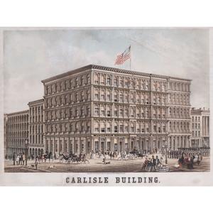 Chromolithograph of the Carlisle Building, Cincinnati, Ohio