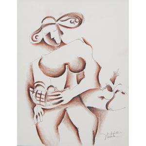 Alexandra Nechita (Romanian-American, b. 1985) Pastel and Ink