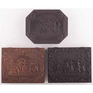 Three Quarter Plate Union Cases, Including Sweet Potato Dinner and Money Musk