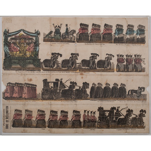 Hand-Colored Woodcut, Funeral Procession of the Duke of Wellington, November 1852