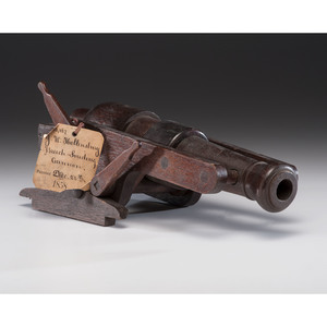 J.W. Hollensbury Breech Loading Cannon Patent: Model No. 22, 427