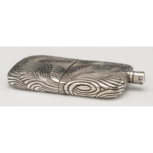 Robert Todd Lincoln Silver Presentation Flask, Tiffany & Co.