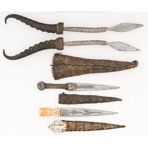 Sudanese Daggers with Reptilian Skin Sheaths