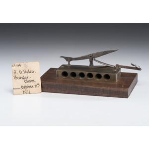 J.G. Bolen Burglar Alarm Patent: Model No. 8, 439