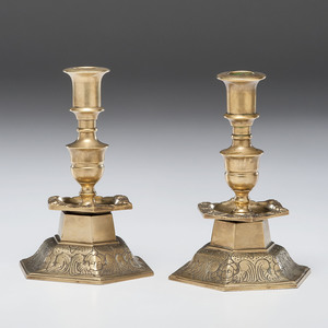 Continental Baroque Candlesticks, Probably Flemish