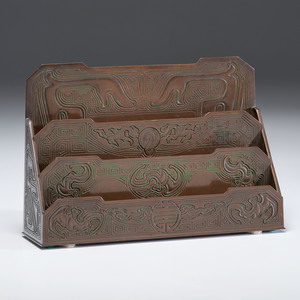 Tiffany Studios Letter Rack in the Chinese Pattern