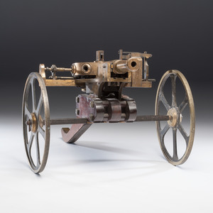 Turret Model Cannon on Wood Caisson