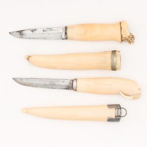 Scandinavian Walrus Ivory Handled Knives