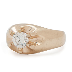 14 Karat Gold Diamond Ring