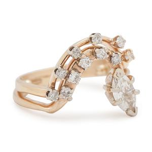 14 Karat Gold Soldered Diamond Rings