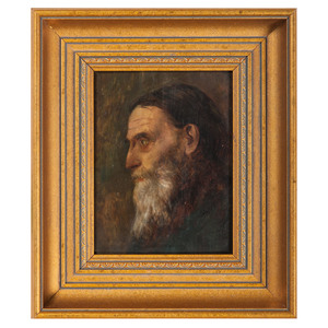 British School, Profile Portrait of a Bearded Man