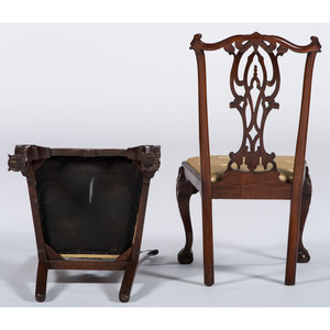 English Chippendale-style Dining Chairs