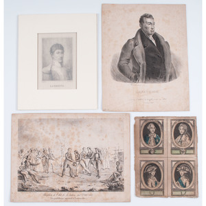 Marquis de Lafayette, Collection of Engravings, Lithographs, Sheet Music, and Ephemera from European Artists and Publishers