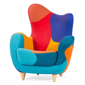 Javier Mariscal for Moroso Italy, Patchwork Alessandra Armchair