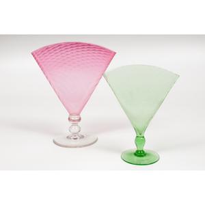 Steuben Fan Vases