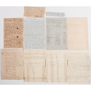Georgia Documents Related to Slavery, Lot of 9