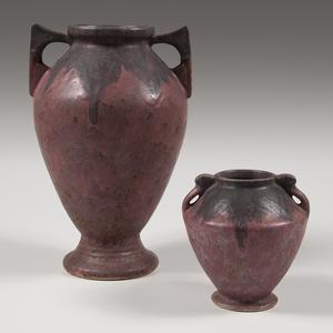 Roseville Pottery Carnelian II Vases