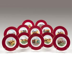 Minton Porcelain Fox Hunt Plates