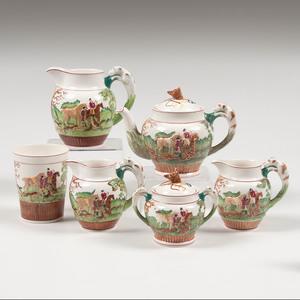 Wedgwood Porcelain Partial Tea Service, D'Ye Ken John Peel