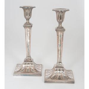 Old Sheffield Plate Candlesticks