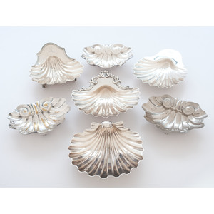 English Sterling Shell Dishes, Plus