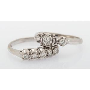 14 Karat White Gold Diamond Wedding Set
