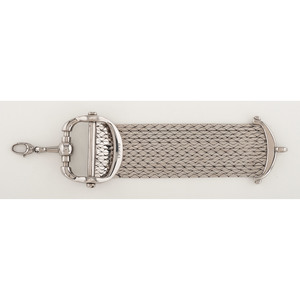 Gucci Multi-strand Silver Horsebit Bracelet