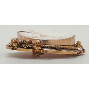14 Karat Gold Victorian Cameo Brooch