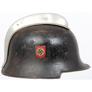 German WWII Lightweight Fireman's/Police  Helmet
