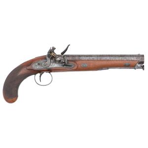 English Carbine Bore Flintlock Pistol