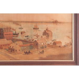 Bird's Eye View of Detroit Factory Parke Davis & Co. Lithograph