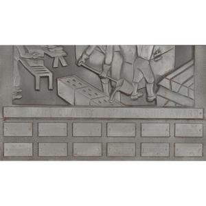 Aluminum Steel Worker Plaque