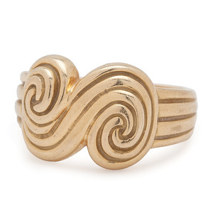 Tiffany & Co. 18 Karat Gold Spiro Swirl Ring
