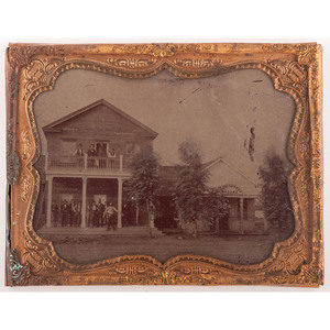 Half Plate Tintype of an Inn and Saloon