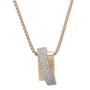 Fana 18 Karat Gold Pendant and 14 Karat Gold Chain