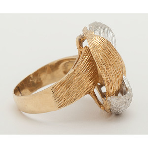 18 Karat Bicolor Gold Ring