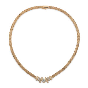 GGR 18 Karat Gold Diamond Necklace