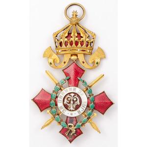 Bulgarian Order For Military Merit Commander's Badge