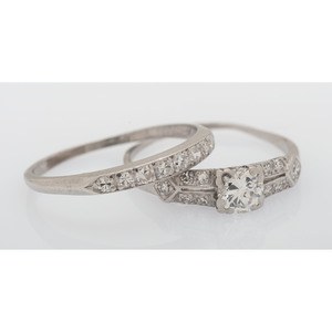 Platinum Vintage Wedding Set