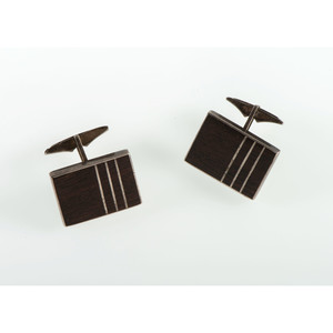 Kenneth Begay (Dine, 1913-1977) Navajo Ironwood and Sterling Silver Cufflinks