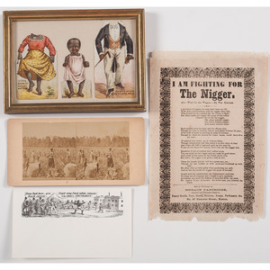 Civil War-Era Song Lyrics with Anti-African American Troop Sentiments, Plus Postal Covers with Racial Scene and More