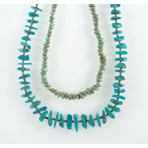 Pueblo Single-Strand Turquoise and Heishi Necklaces