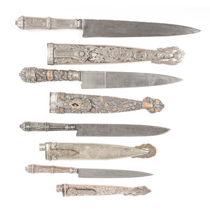 Lot of Four Argentine Gaucho Knives