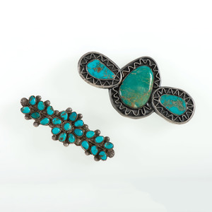 Navajo Silver and Turquoise Pins