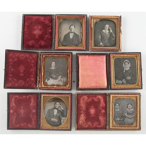 Sixth and Ninth Plate Daguerreotypes, Lot of 15