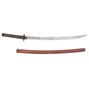Shin-Shinto Japanese Samurai Sword (Katana) with Horimono (Carving) of Fudo-Myo-o